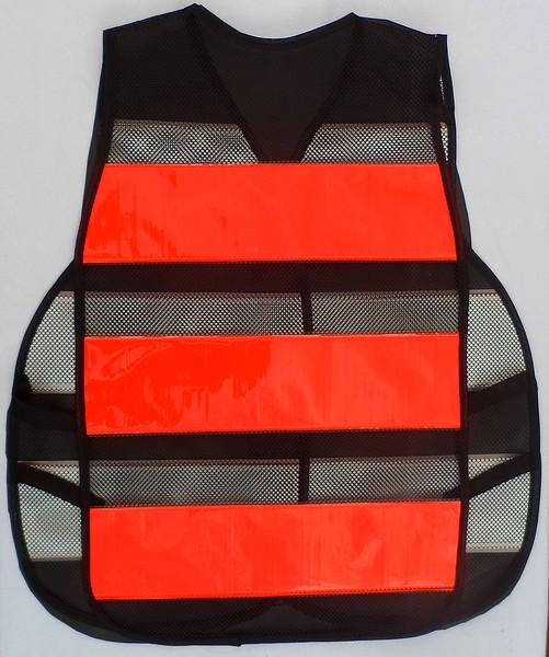 colete refletivo tipo blusão Laranja-Fluorescente
